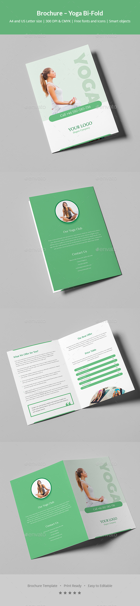 GraphicRiver Brochure Yoga Bi-Fold 20953895