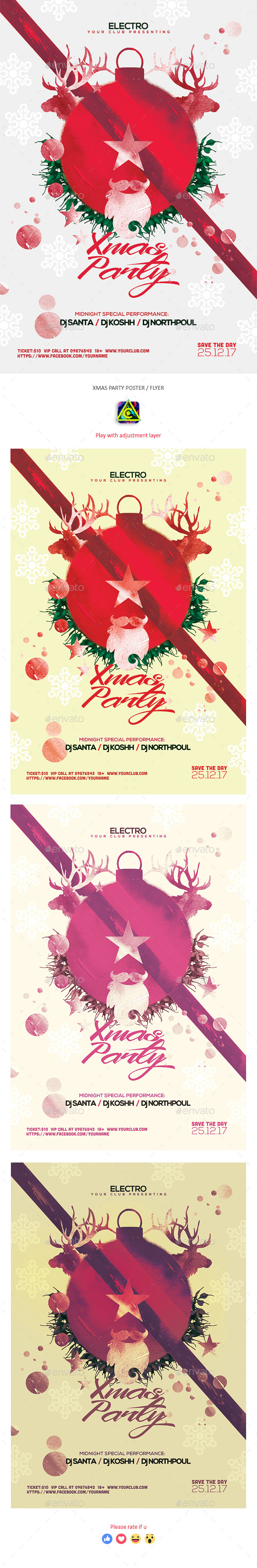 Christmas Party Poster / Flyer - Clubs & Parties Events