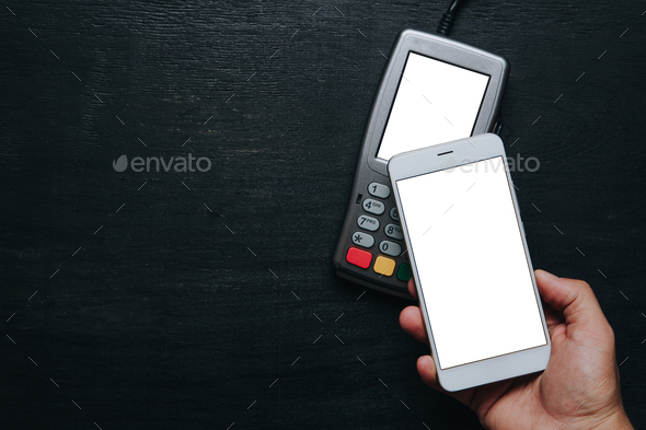Contactless smartphone payment. - Stock Photo - Images