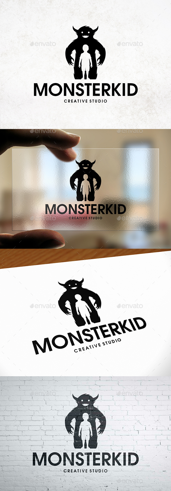 GraphicRiver Monster Kid Logo Template 20954070