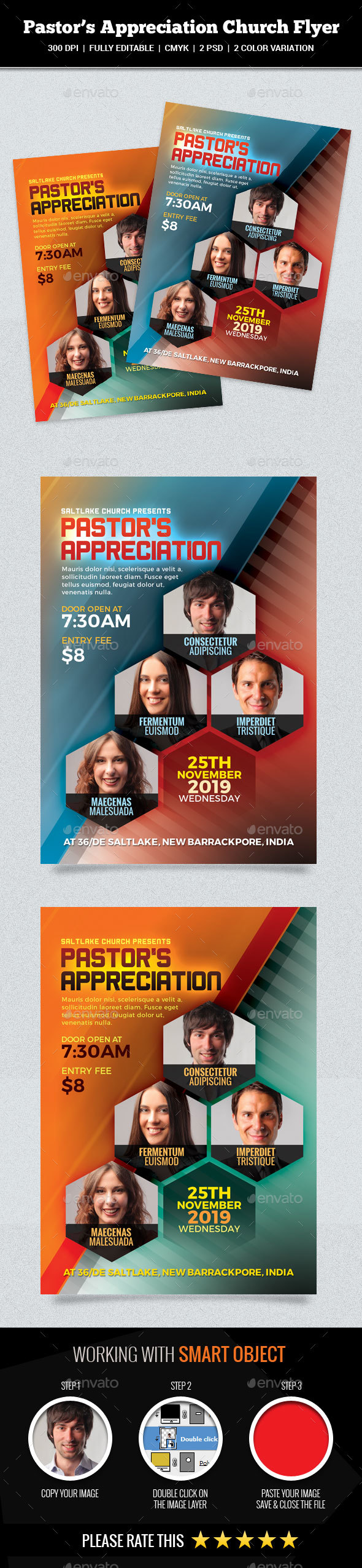 GraphicRiver Pastor's Appreciation Church Flyer 20954119