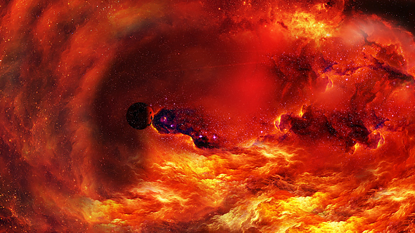 VideoHive Flying Through Abstract Red Space Nebulae 20954178