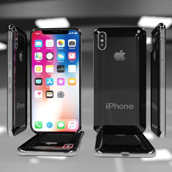 iPhone X Low Poly 0.5Mb - 3DOcean Item for Sale