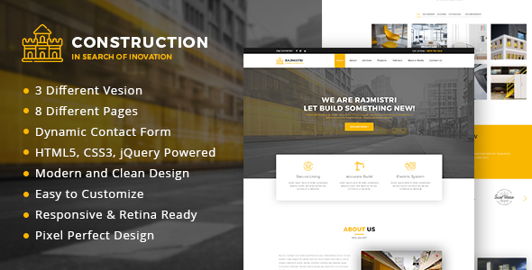Construction - Bootstrap 4 BusinessTemplate - Business Corporate