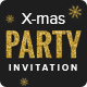 X-mas - Christmas Party Invitation Email Template PSD
