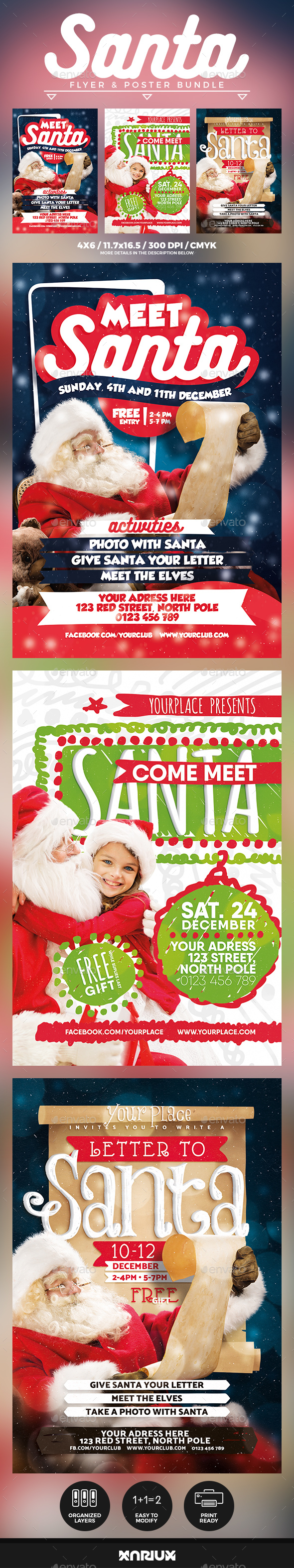 GraphicRiver Meet Santa Flyer & Poster Bundle 20954295
