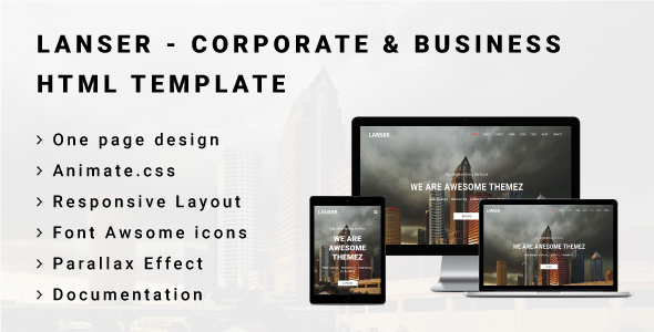 ThemeForest LANSER Corporate & Business HTML Template 20873541