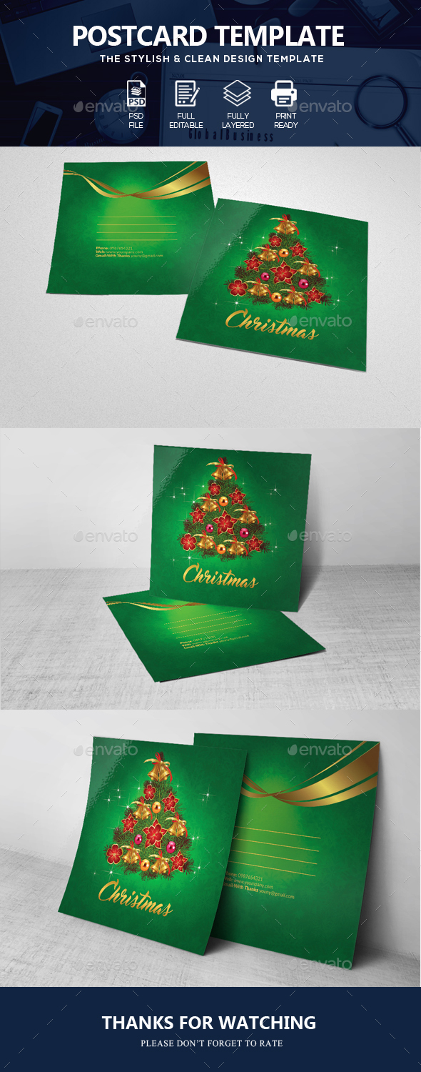 GraphicRiver Charistmas Greeting Post Card 20954373