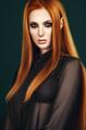 Fashion redhead  model in studio
