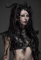 Woman dark elf warrior