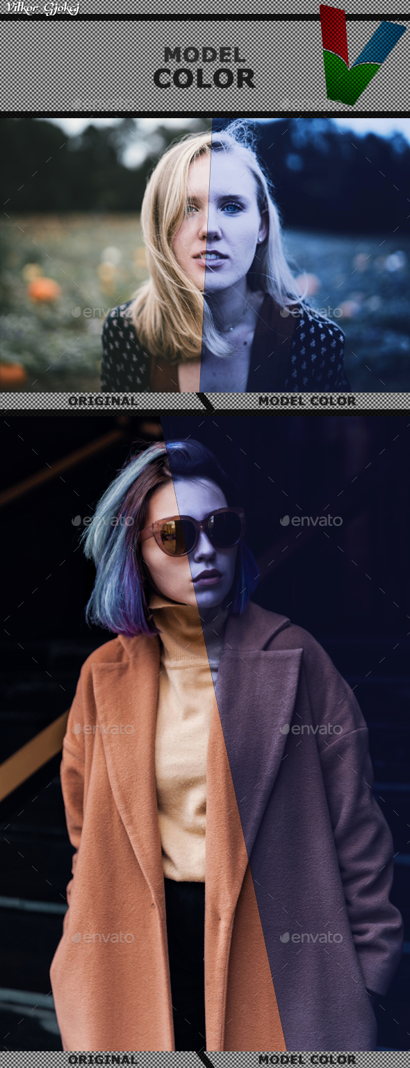 Model Color - Photo Templates Graphics