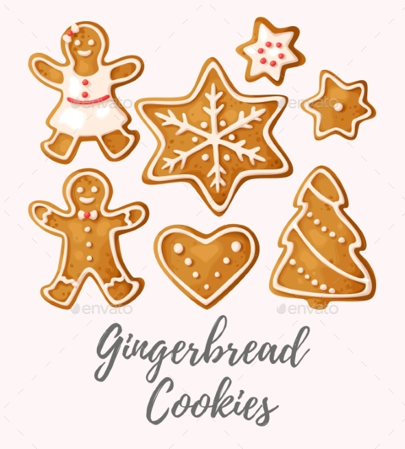 GraphicRiver Set of Gingerbread Cookies 20954548