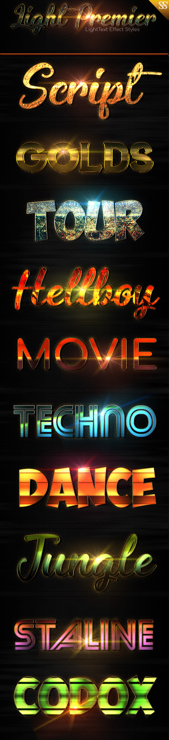 Light Premier vol 1 - Text Effects Styles
