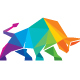 Bull Colorful Polygon Logo