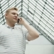 Smart Phone Man Calling on Mobile Phone at Night in City. Handsome Young Business Man Talking - VideoHive Item for Sale