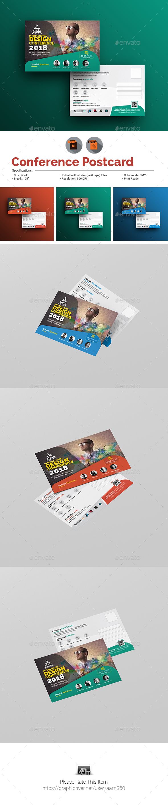 GraphicRiver Conference Event Postcard 20954839