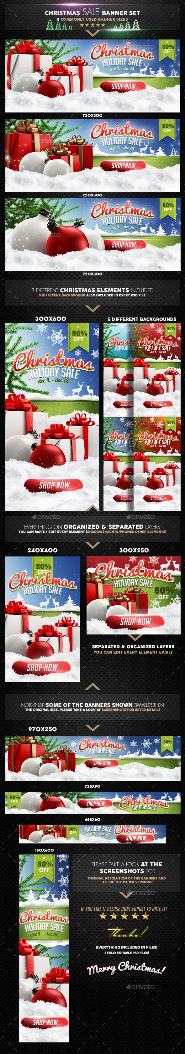 GraphicRiver Christmas Banner Set 20954949