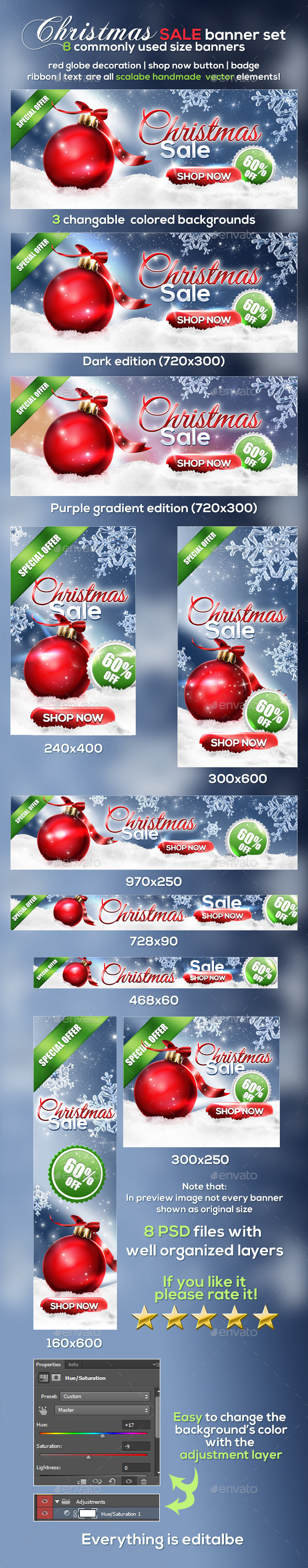 GraphicRiver Christmas Banner Set v2 20954999