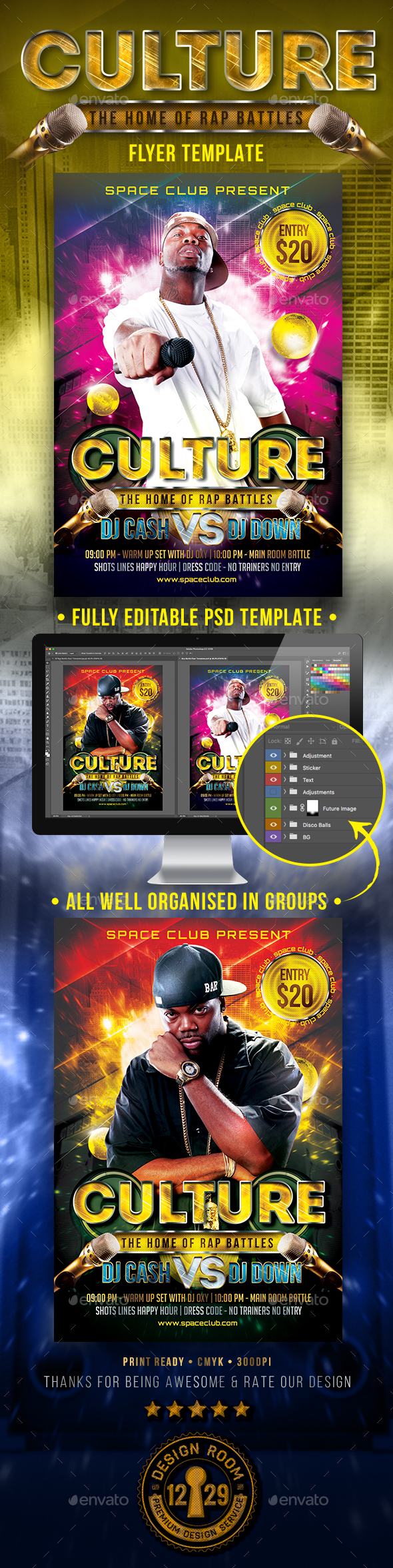 GraphicRiver Rap Battle Flyer Template 20955043