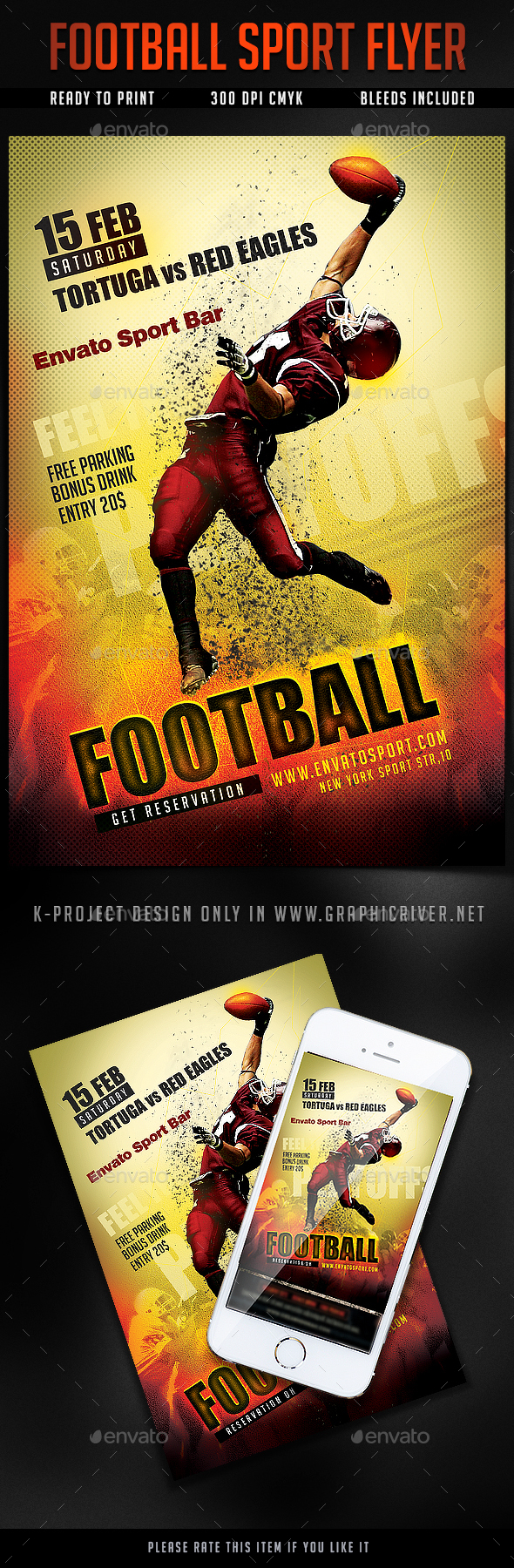GraphicRiver Football Sport Flyer 20955185
