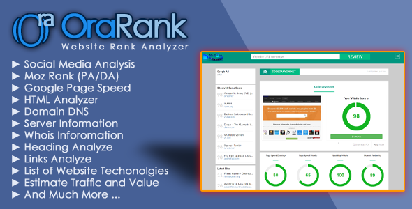 OraRank - Website Rank & Value Analyzer - CodeCanyon Item for Sale