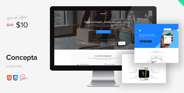Download Concepta - SaaS, Software, WebApp & Services Template            nulled nulled version