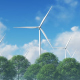 Wind Turbines and Clouds - VideoHive Item for Sale