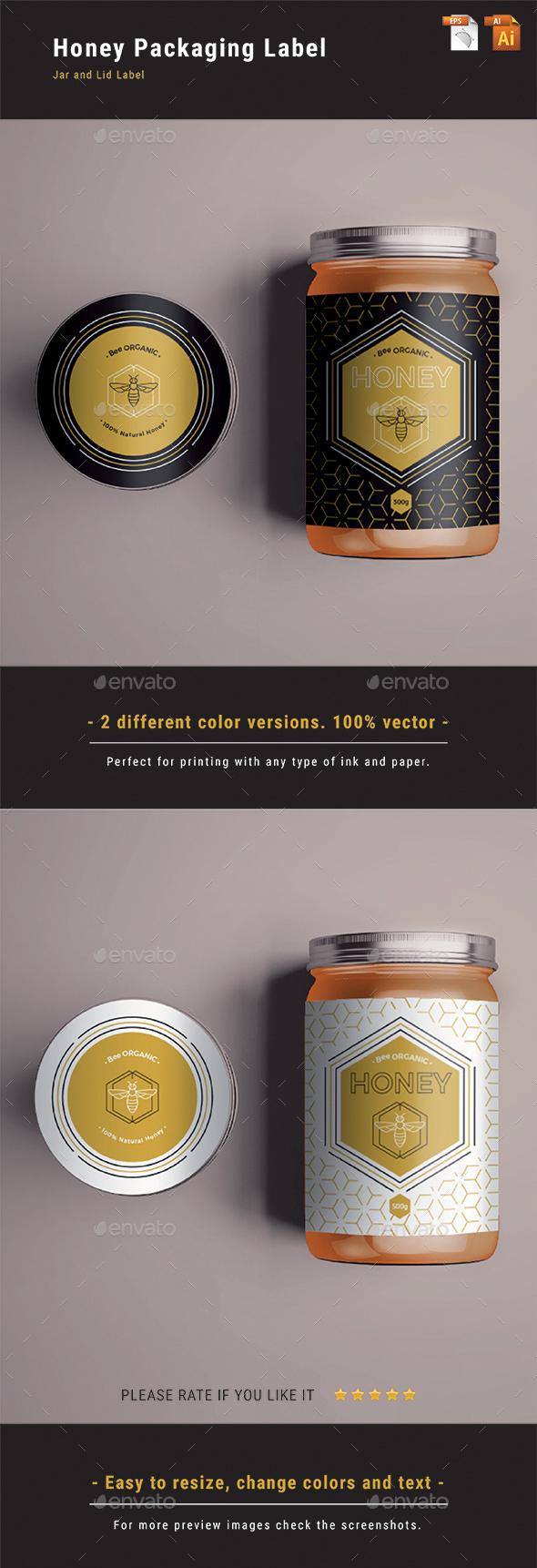 Honey Packaging Label - Packaging Print Templates