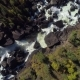 Aerial Flight Over Steam Raging River and Waterfall in Autumn Forest - VideoHive Item for Sale