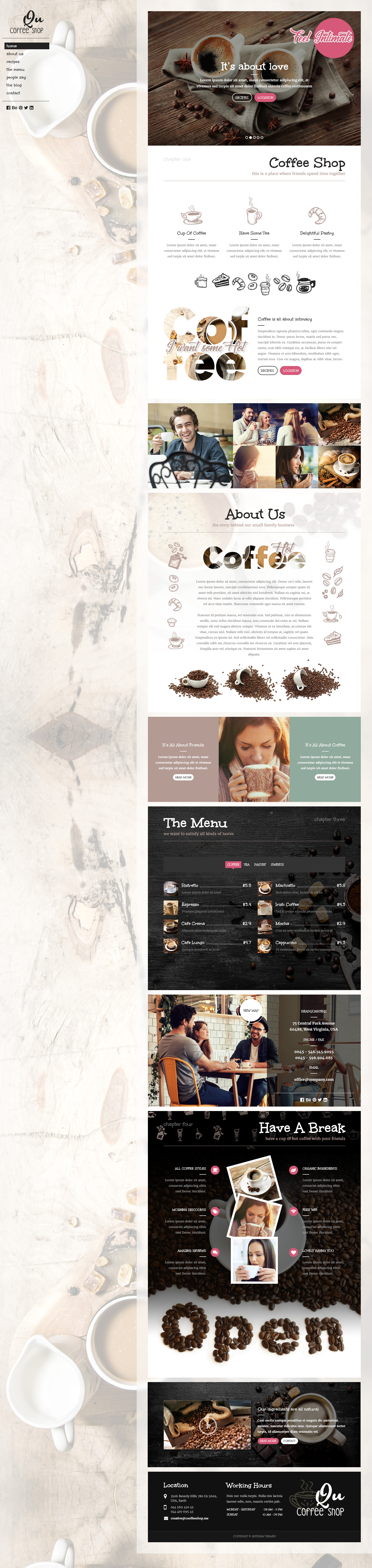 Niche concepts 7 psd templates by ant farm themeforest for Coffee shop design software