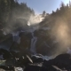 Footage of a Rocky Waterfall in a Backlight. - VideoHive Item for Sale