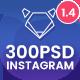 Fashion Instagram Ads - 300PSD - GraphicRiver Item for Sale
