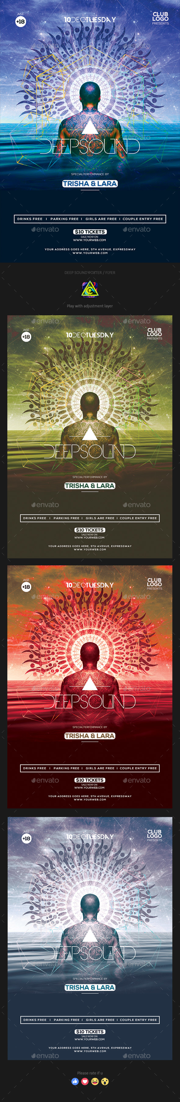 GraphicRiver Deep Sound Poster Flyer 20955628