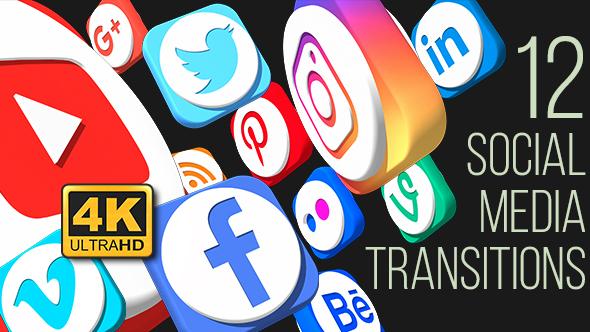 Videohive Social Media Social Media Transitions (4K) 20955650