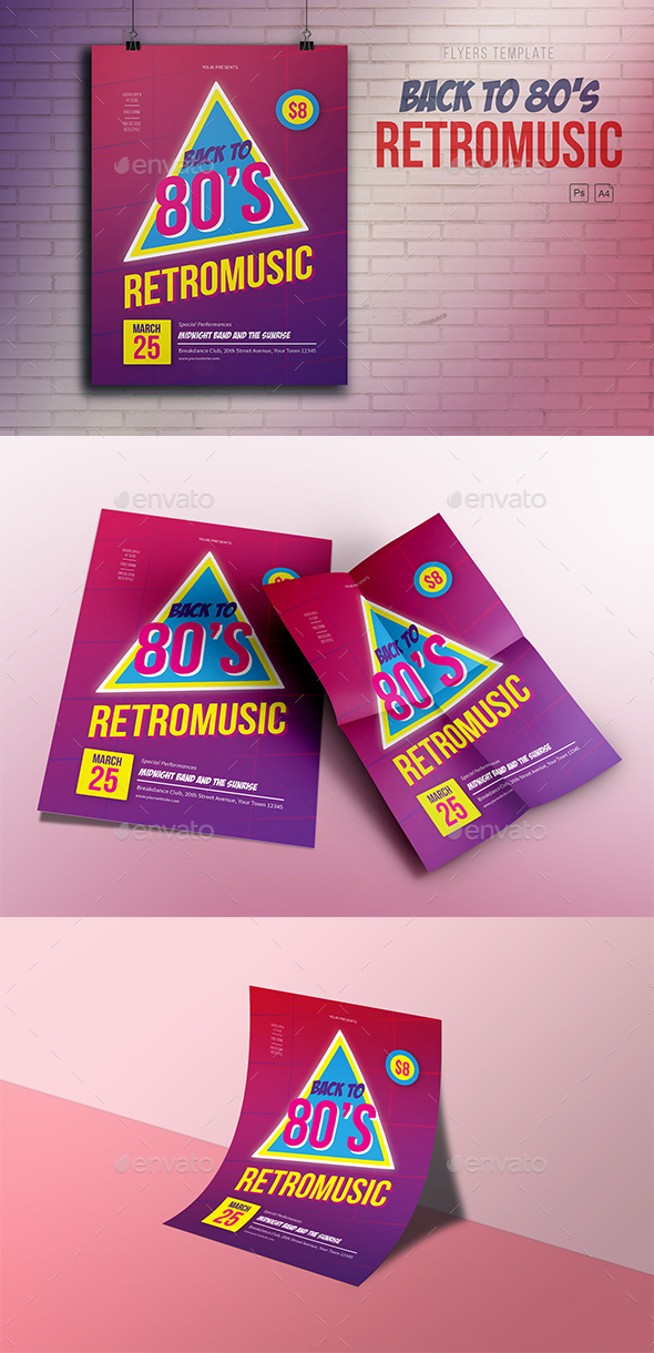 GraphicRiver Retromusic Back to 80's 20955686