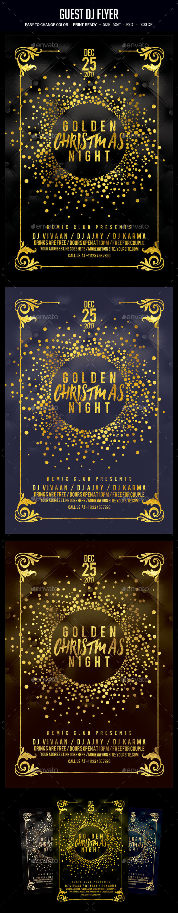 GraphicRiver Christmas Party Flyer 20955708