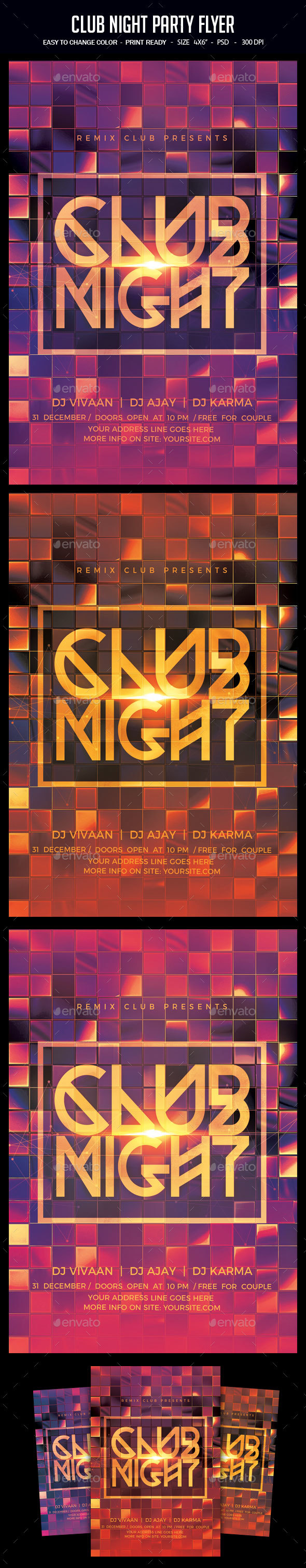 GraphicRiver Club Night Party Flyer 20955713
