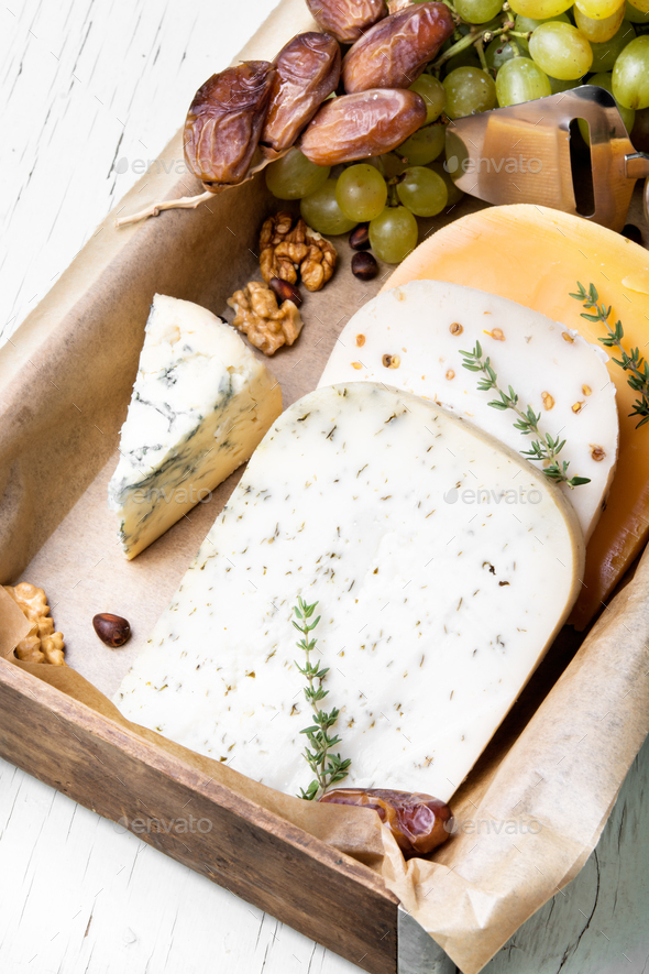 Swiss cheese with nuts - Stock Photo - Images