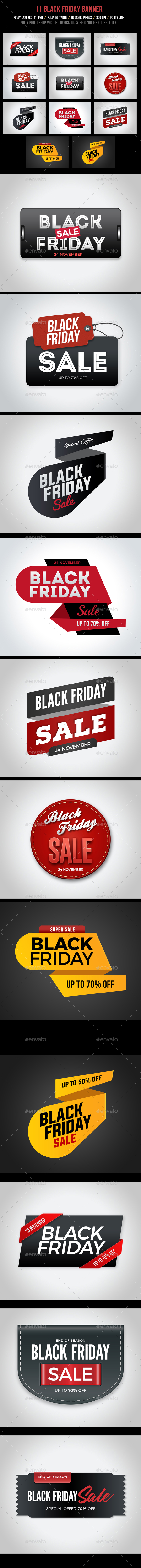 GraphicRiver Black Friday Banners 20955927