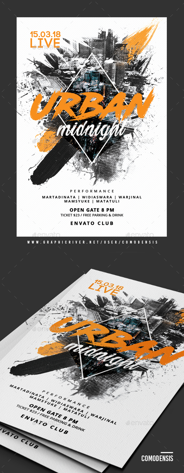 GraphicRiver Urban Sound Flyer 20955965