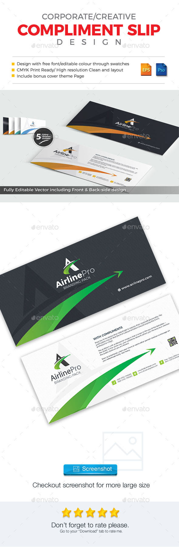 GraphicRiver AirlinePro Corporate Complimentary Slip 20955983