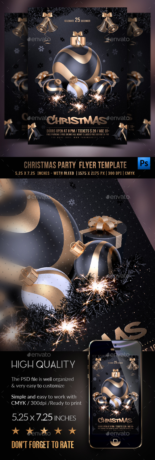 GraphicRiver Christmas Party Flyer 20956028