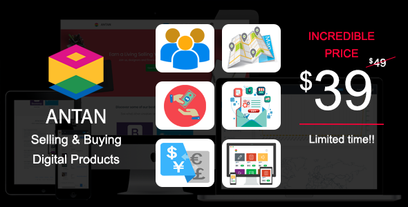 Antan - Selling and Buying Digital Products - CodeCanyon Item for Sale