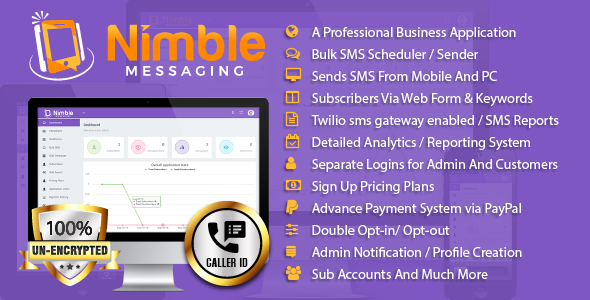 Source code              Nimble Messaging Business Mobile SMS Marketing Application For Android            nulled