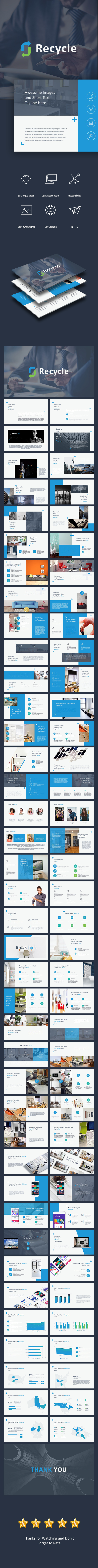 GraphicRiver Recycle Pitch Deck Powerpoint 20956139