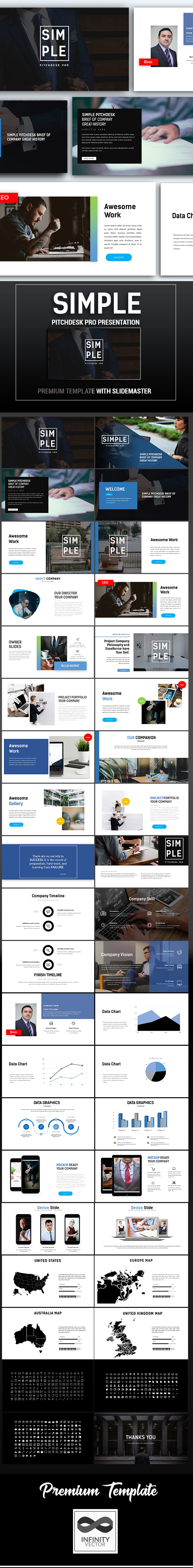 GraphicRiver Simple Pitchdesk Pro Google Slide 20956164