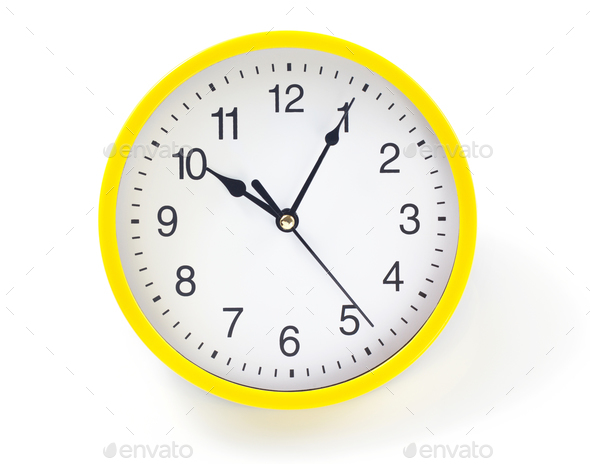 wall clock isolated on white - Stock Photo - Images