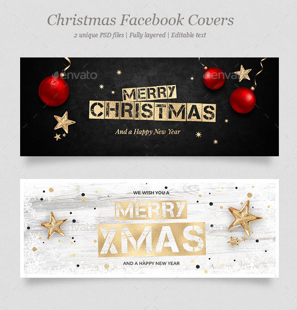 2 Christmas Facebook Covers - Facebook Timeline Covers Social Media