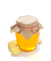 jar of honey and ginger on white background - PhotoDune Item for Sale