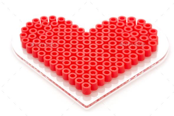 beaded love heart - Stock Photo - Images